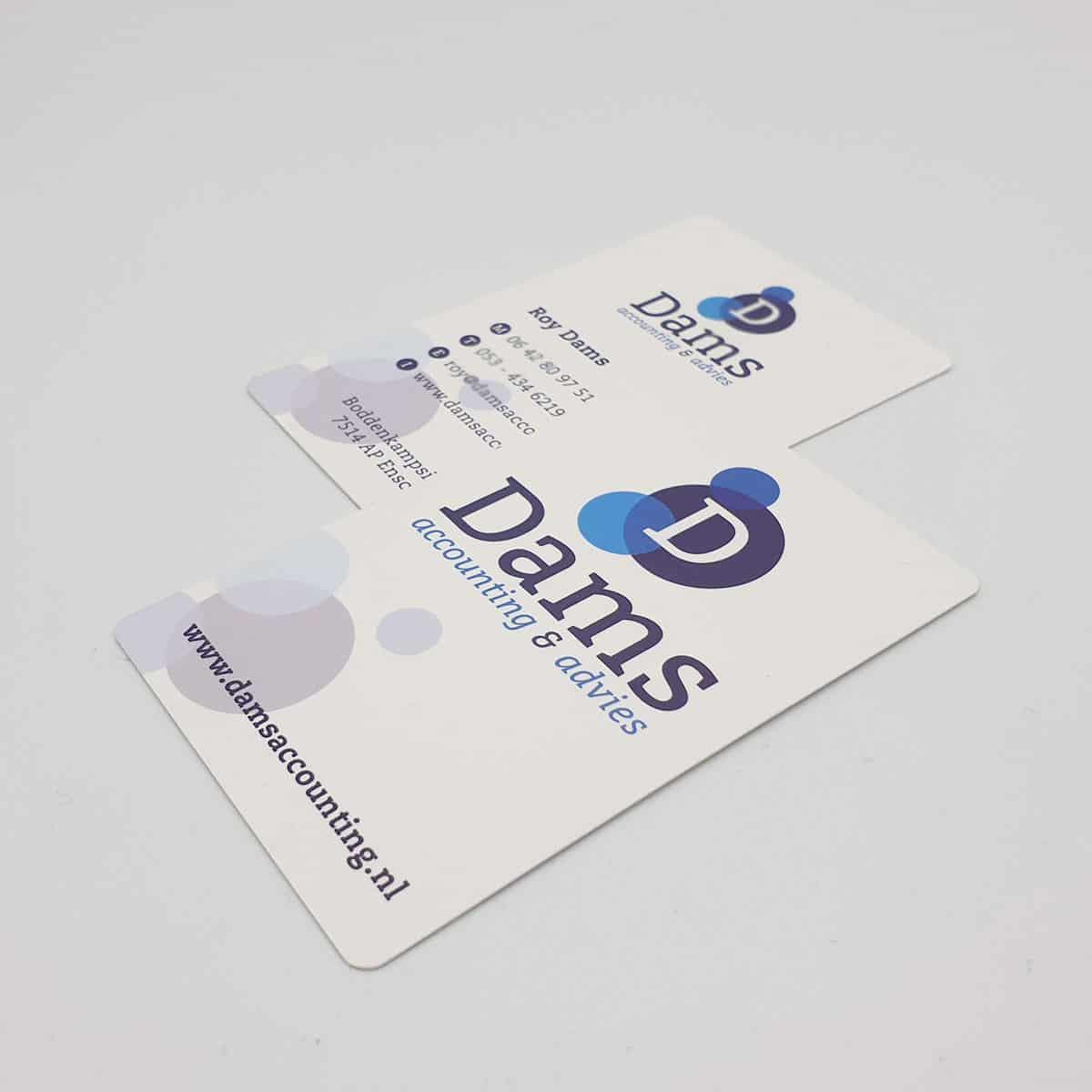 Huisstijl-visitekaartjes-Dams-Accounting-burobedenkt