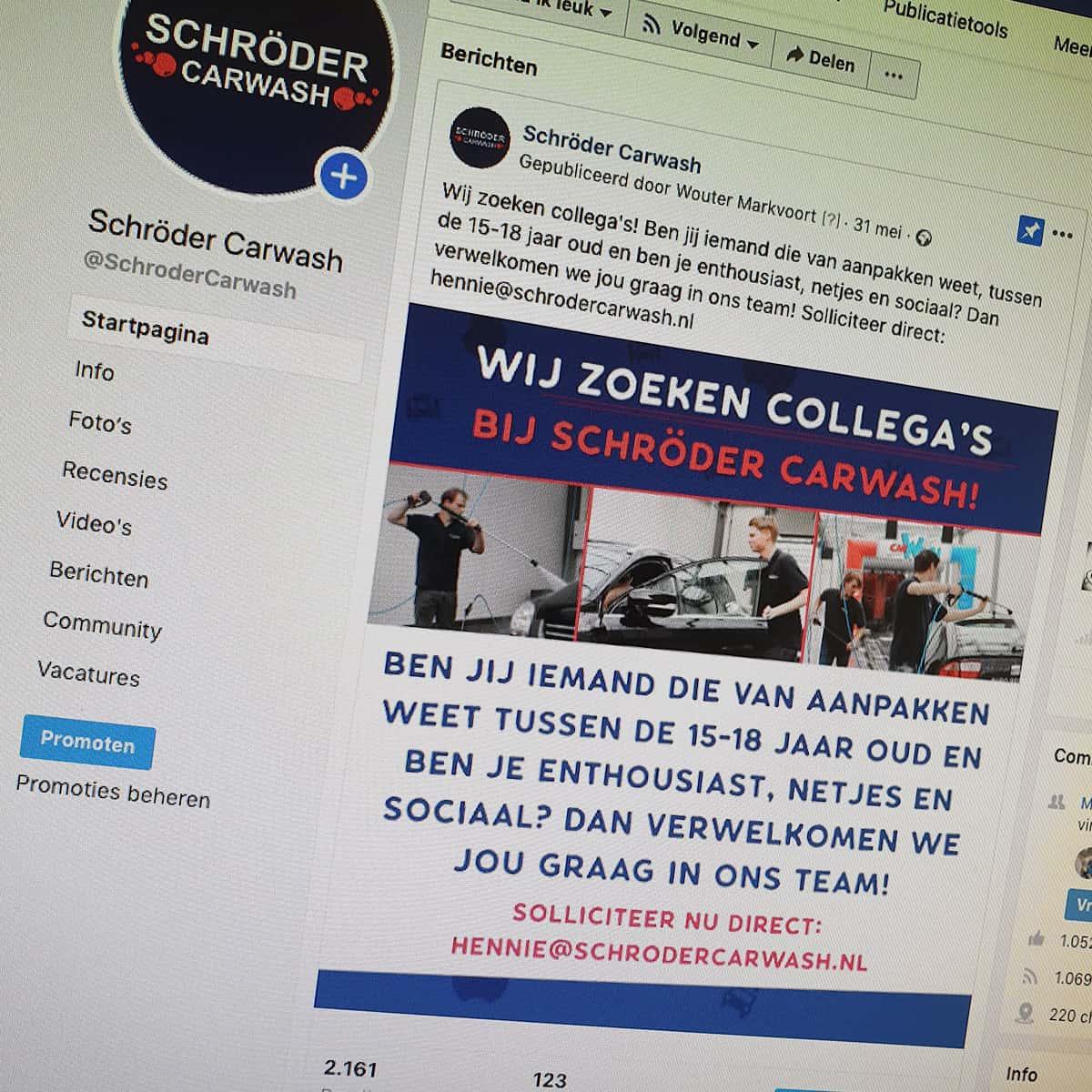 social-media-reclame-schroder-carwash-burobedenkt